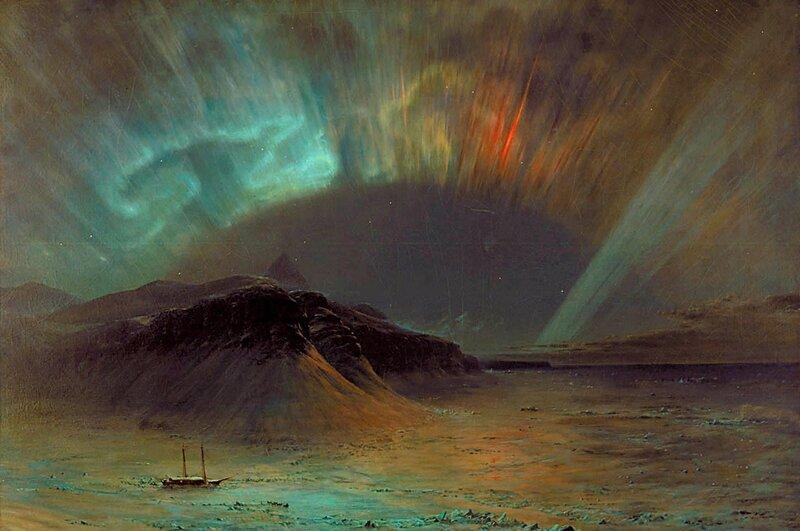 Северное сияние, Фредерик Эдвин Чёрч, 1865