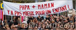 Гражадне Франции против легализации однополых браков