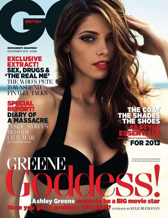 Ashley Greene / Эшли Грин в журнале GQ UK, декабрь 2012 / фотограф Benny Horne