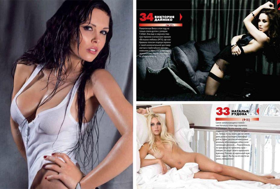 Мария Горбань, Виктория Дайнеко, Наталья Рудова - 100 самых сексуальных женщин страны - Россия Maxim hot 100