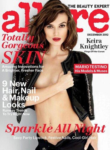 Keira Knightley by Mario Testino / Кира Найтли в журнале Allure США, декабрь 2012