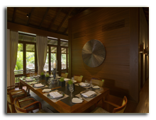 Малайзия. The Datai Langkawi. Pool Suite Dining Room