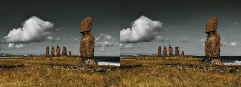Каменные души острова Пасхи Стереопара