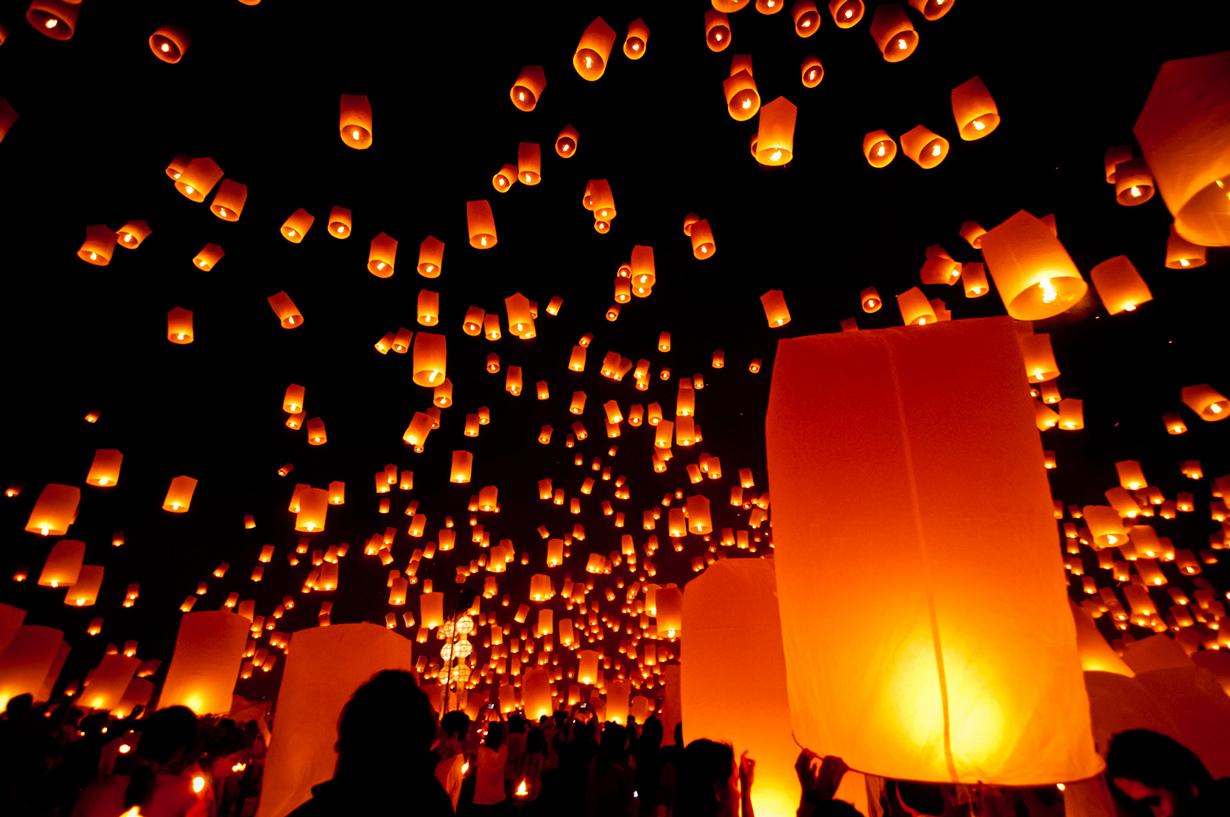 3 место. Лойкратхонг — таиландский праздник, который отмечается во время ноябрьского полнолуния. В э
