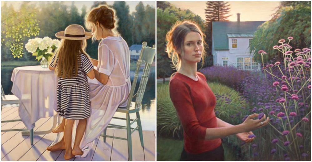 Работы канадской художницы Даниэль Ричард (Danielle Richard) запоминаются особенным светом: отних б