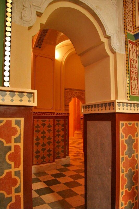 Турецкая баня в Екатерининском парке, интерьер