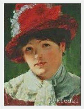 Arvid Liljelund (Finnish, 1844 - 1899) «Parisienne. Mademoiselle Armandina»