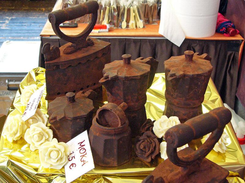 Шоколадные  утюги со ржавчиной