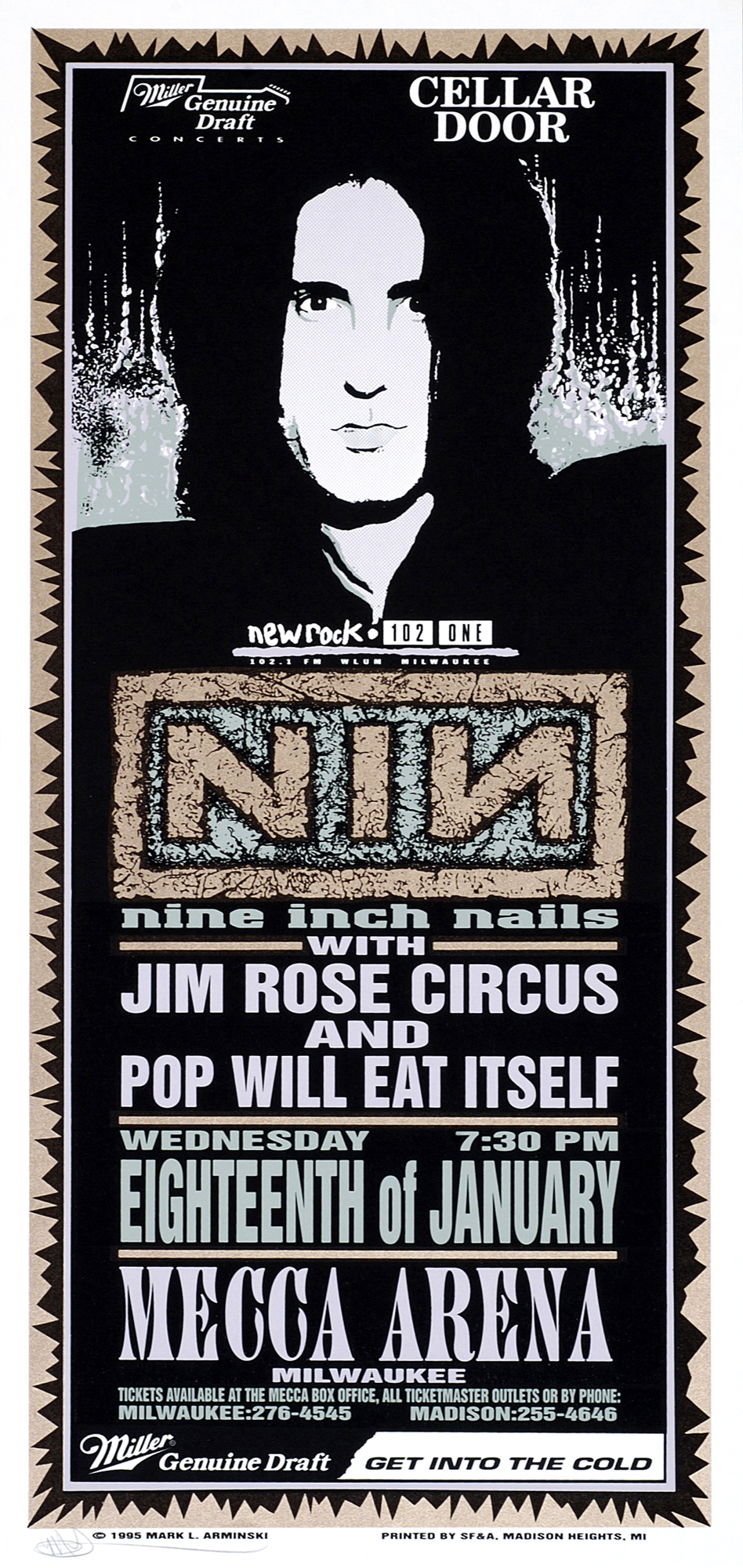 Nine Inch Nails – Concert Poster by Mark Arminski - ILLNESS ILLUSION