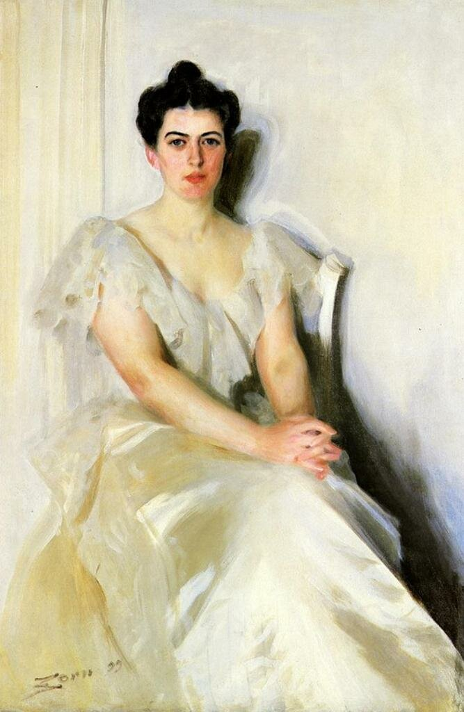 Миссис Френсис Кливленд, (жена президента Стивена Гровера Кливленда) 1899,Цорн, Андерс (1860-1920