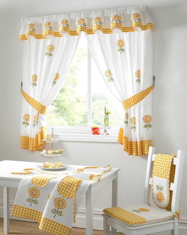 Short kitchen curtains