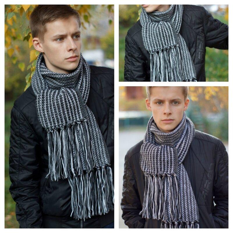 Мужские шарфы для вязания 343