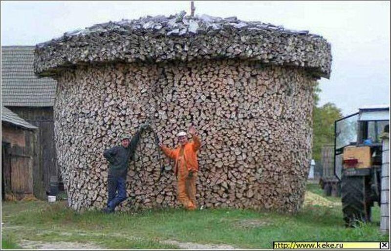 Есть такой народ, который даже к заготовке дров подходит творчески. - Странненько - Сайт Натальи и Вадима Аникановых