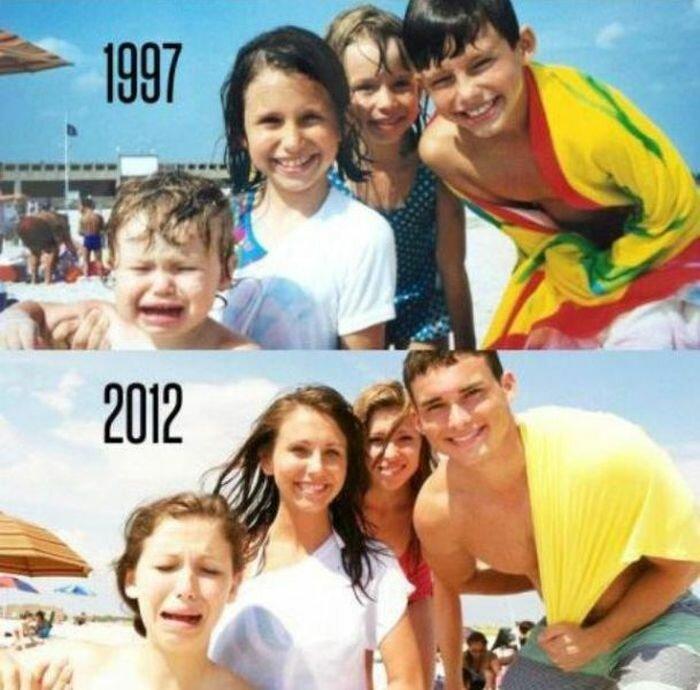 Снимки из детства и сейчас
