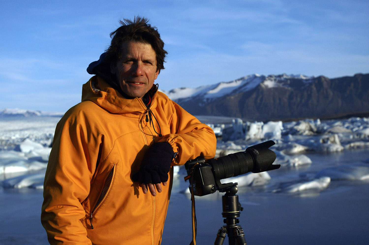 EIS Founder & Director James Balog at Jøkulsårlon, Iceland
