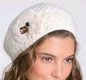 Элегантная изысканная зимняя шапочка для настоящей леди №1.