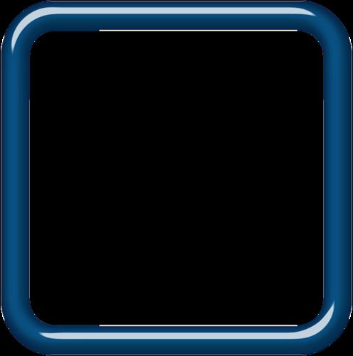 Lenagold - Клипарт - Синие рамки 2 | 500x496
