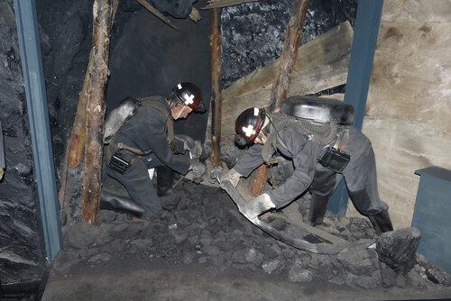 История добфчи угля в музее Красная Горка