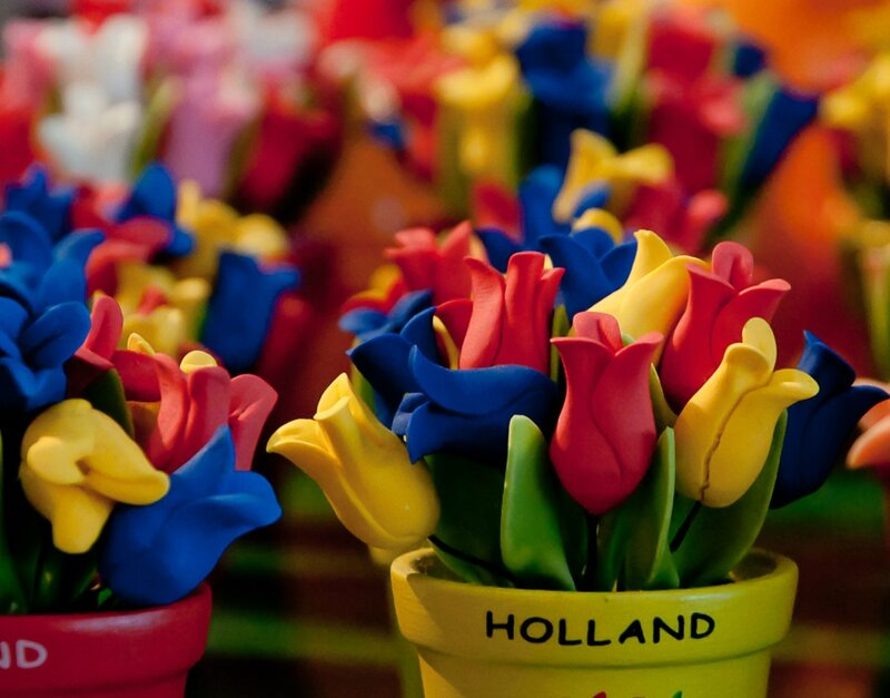 Тюльпаны из глины
