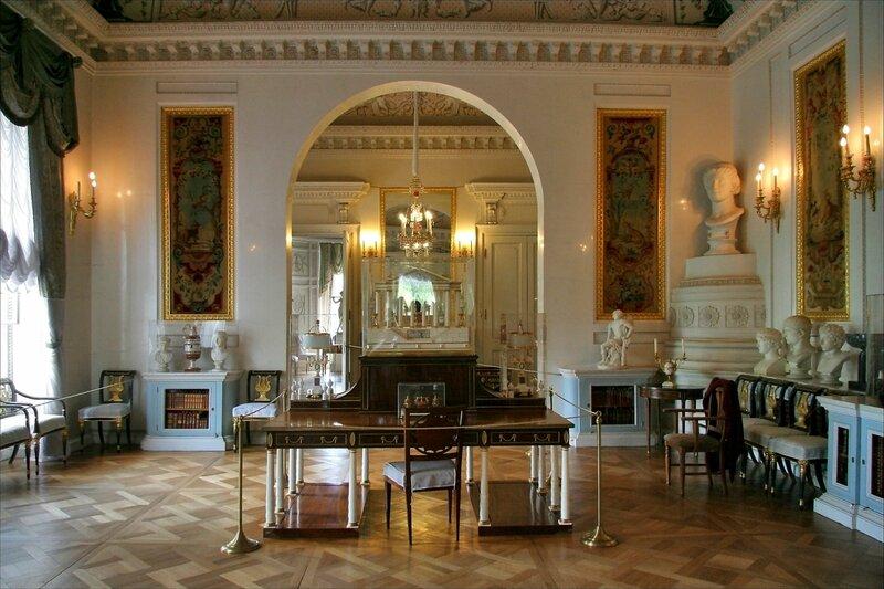 Павловский дворец, Парадная библиотека и Малый кабинет императора Павла I