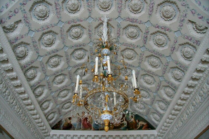 Павловский дворец, Туалетная, потолок