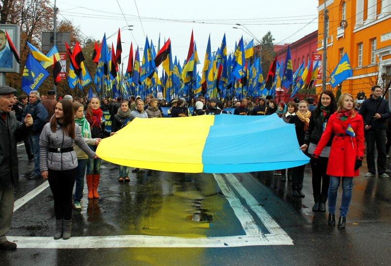 Шествие ВО Свобода по Киеву