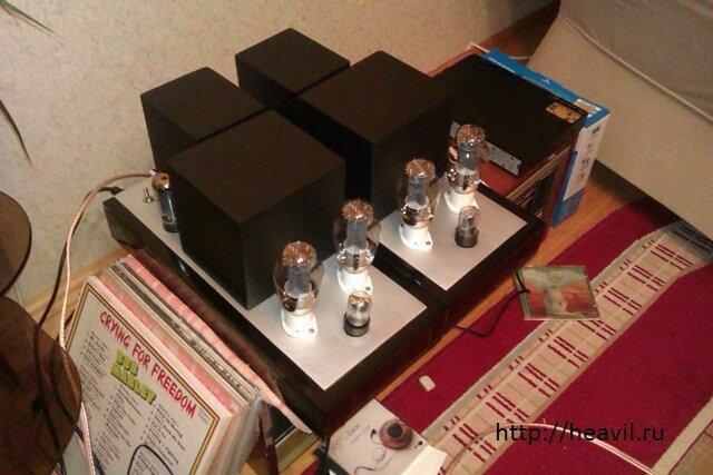 Оригинал схемы этого лампового усилителя доступен.  Да, в этих усилителях отсутствуют регуляторы громкости...