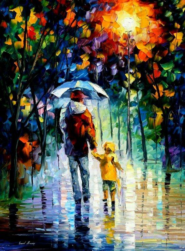 Двое под дождём ( автор неизв)