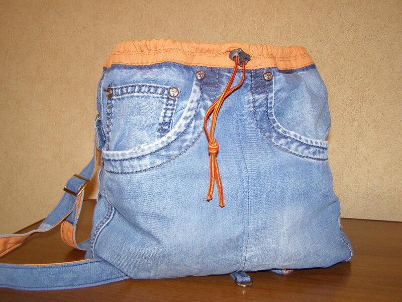 Как сделать из старых джинсов рюкзак