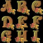 Осенние надписи в PNG