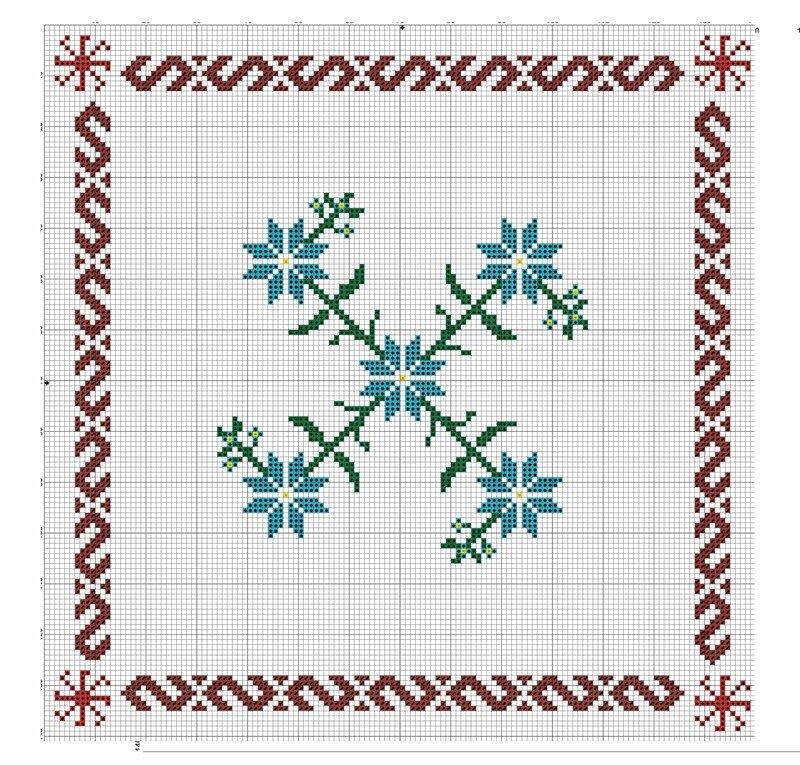 Василёк вышивка крестом схема 5
