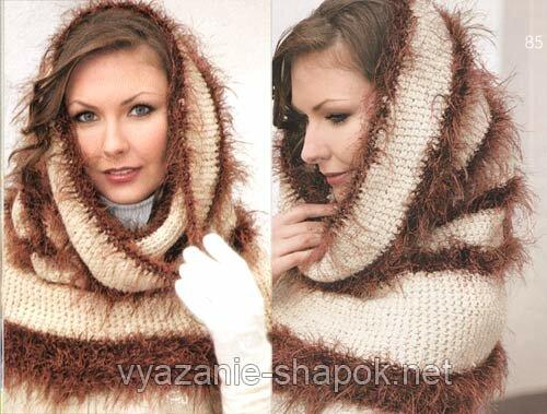 http://vyazanie-shapok.net/prostoe-...e-shapka-truba.  Простое вязание - шапка-труба (крючок) .