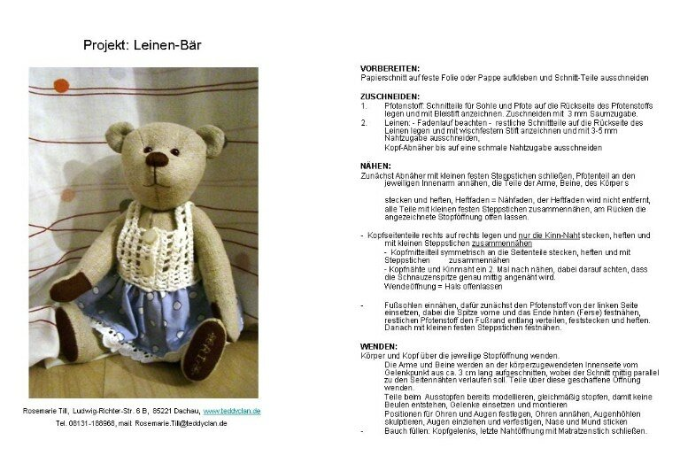 http://teddyclan.de/freier-schnitt.html   Leinen-Bar от Rosemary Till: