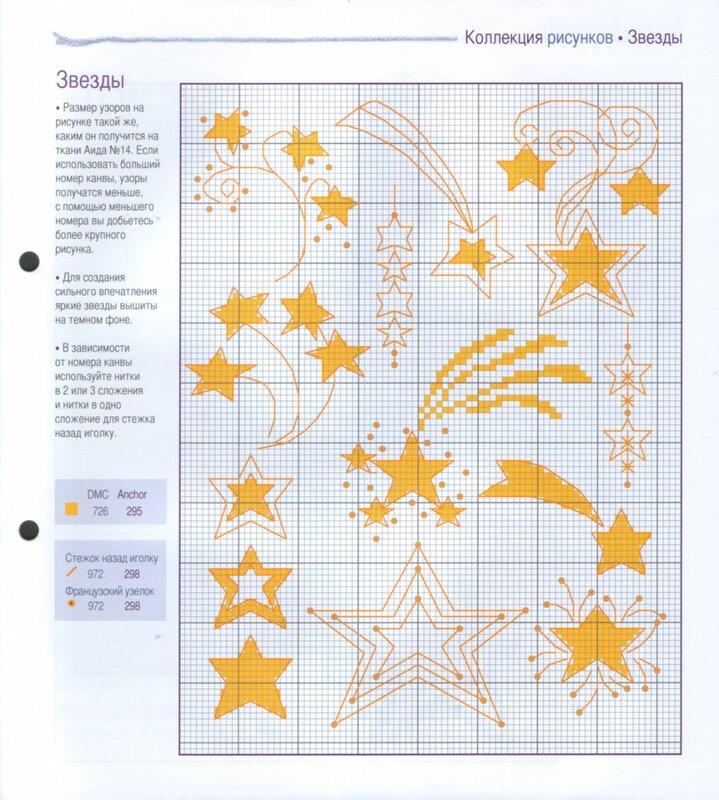 Звезды для вышивки крестом