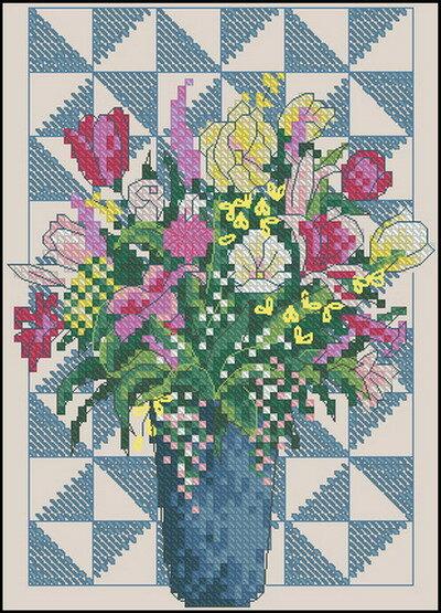 Цветы и Растения.  Поделиться. бесплатно. схема.  Метки. крестом. крестиком.  0. Название схемы: Dimensions 06858...