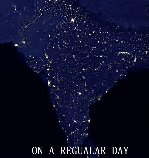 Индия в обычную ночь и ночь праздника Дивали