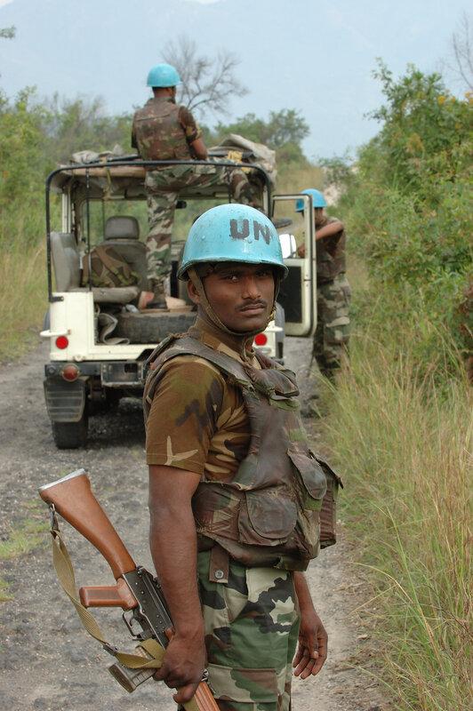 UN military escort