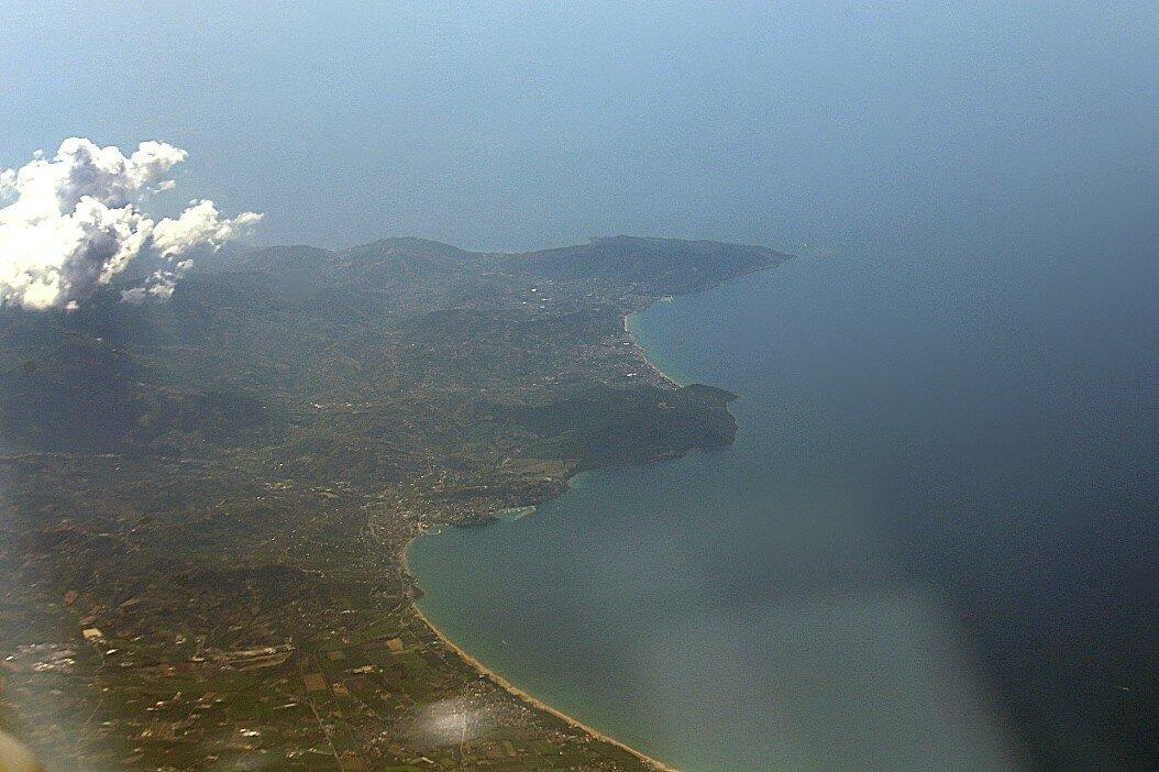 Полуостров Сорренто. Вид с самолета