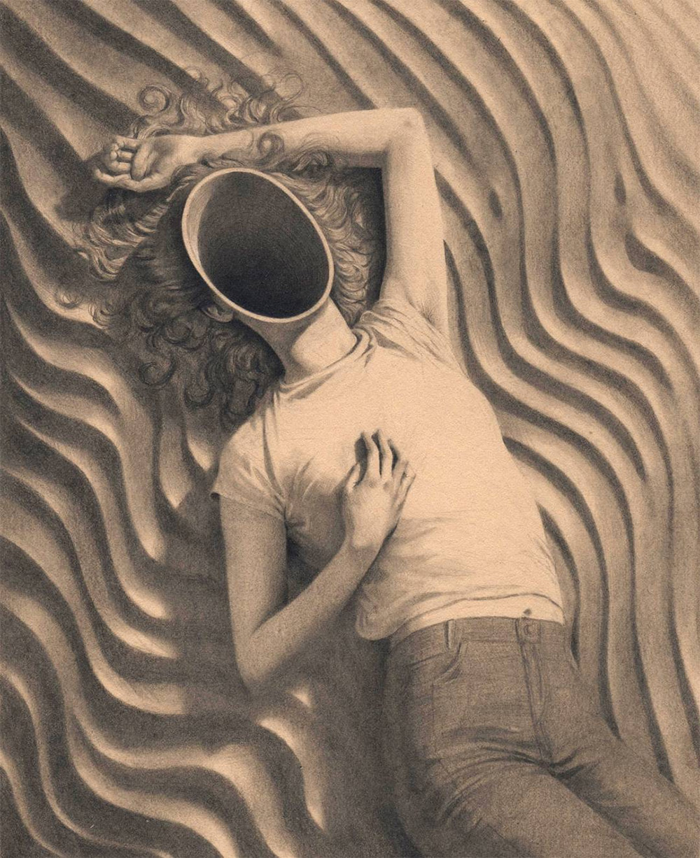 Segmented and Compartmentalized Graphite Portraits by Miles Johnston
