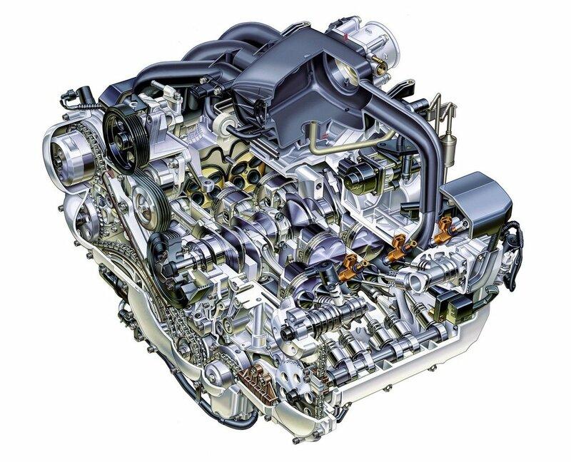 ...горизонтально-оппозитного двигателя SUBARU BOXER, и симметричную конструкцию схемы полного привода автомобиля в...