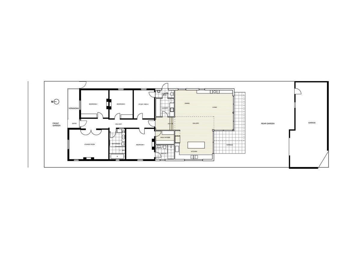 Расширение дома на окраине Мельбурна