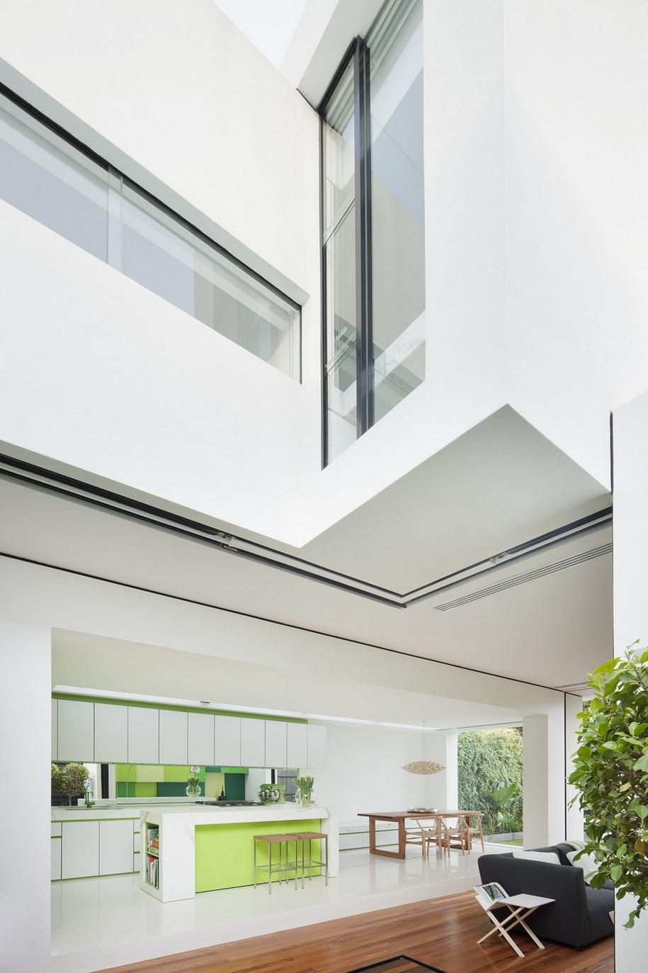 Белоснежный Shakin Stevens House в Мельбурне