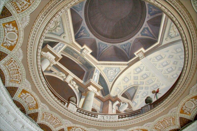 Павловский дворец, Третий проходной кабинет, отделка потолка