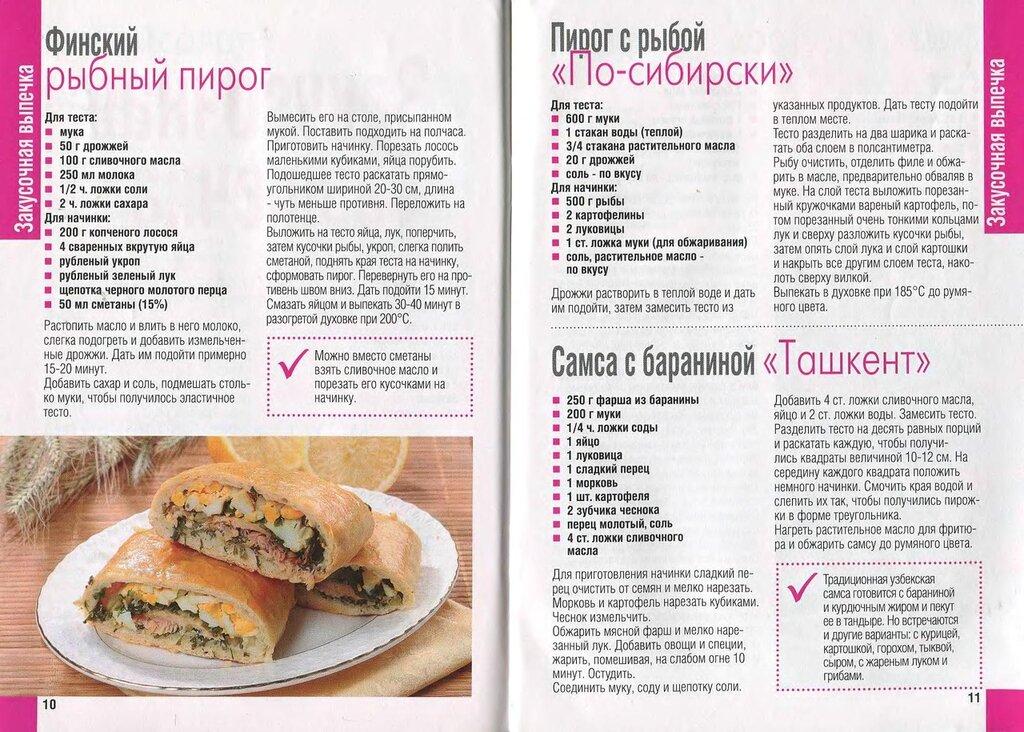 Кулинарные рецепты с пирог с