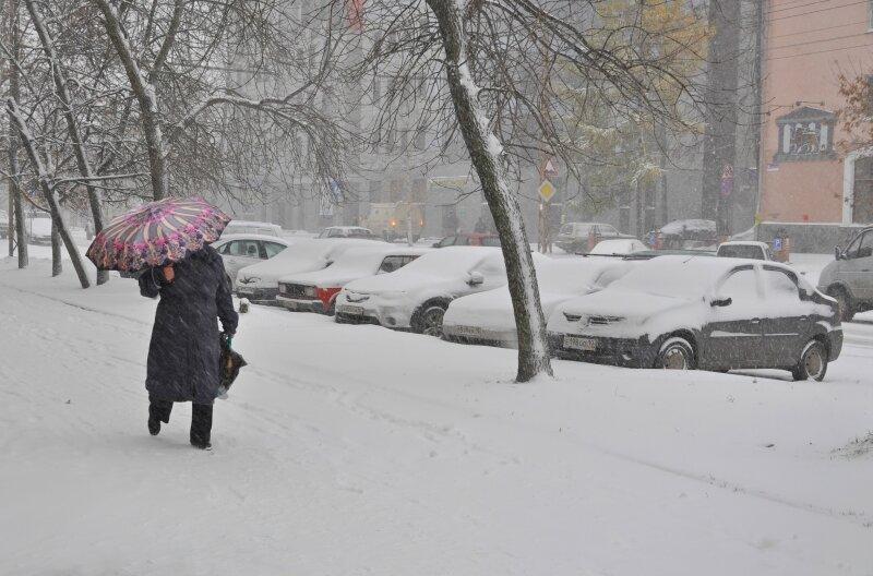 Снег в Петрозаводске
