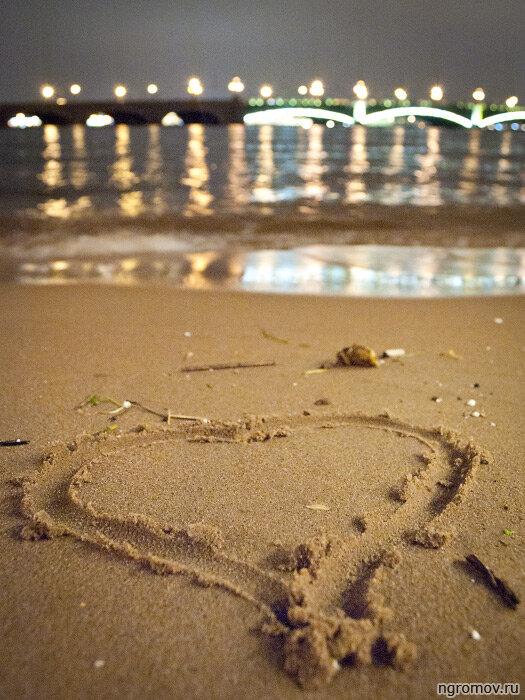 Любовь к Петербургу (Нева, ночь, отражение, сердце, Троицкий мост)