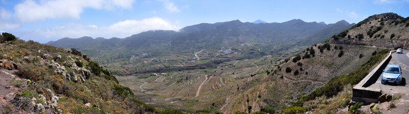 Вид на Лас-Портелас с перевала, Тенерифе