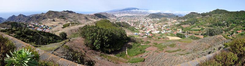 Сан Кристобаль де Ла Лагуна с трассы TF-12, Тенерифе