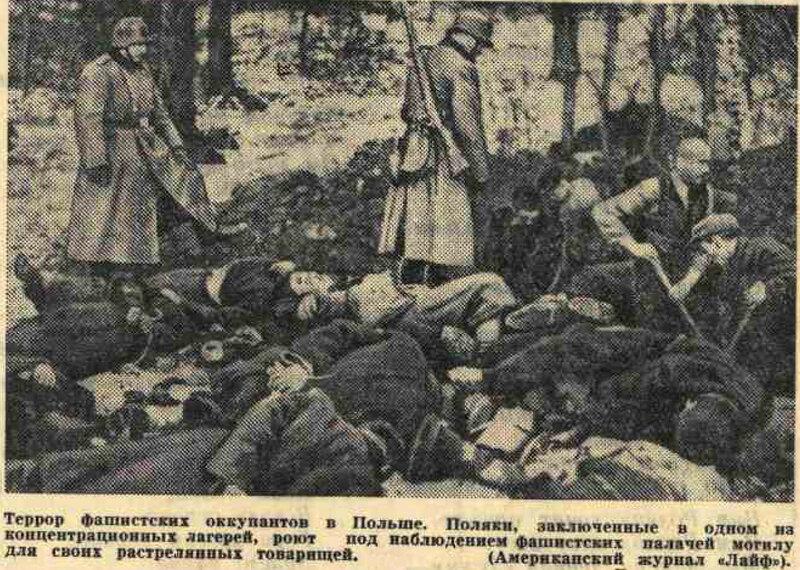 «Известия», 25 июня 1941 года, Польша в ВОВ, оккупация Польши