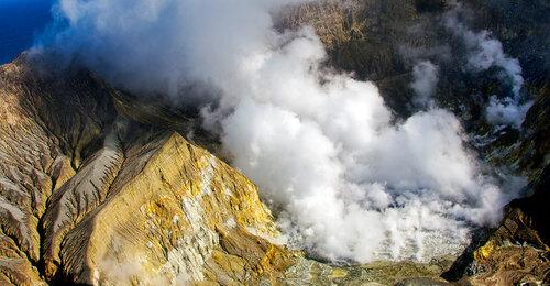 Самый активный действующий вулкан Новой Зеландии